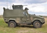 Zephyr Multi-Role Vehicle (MRV) from Creation UK. The platform has been configured to provide a wide range of missions, both combat, combat support, logistics etc. Photo: Creation UK