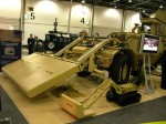 The Husky vehicle mounted mine detection system equipped with the Advanced Ground Penetration Radar (AGPR) from Chemring. Adjacent to the Husky, a Talon UGV is seen, equipped with a light GPR-Electromagnetic Inductance (EMI) sensor. Photo: Tamir Eshel, Defense-Update