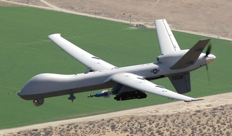 An MQ-9 Reaper is tasked with armed recce missions, armed with laser guided bombs and Hellfire missiles. The export of such aircraft has sofar been limited to close US Allies due to ITAR and MTCR export restrictions. Photo: General Atomics