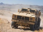 M-ATV vehicles undergoing testing in the high desert of Western USA prior to shipment to Afghanistan. Photo: Oshkosh Defense.