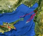 The Syrian news agency SANA published this map showing the tracks of the Turkish aircraft before it was shot down by its anti-aircraft artillery seven kilometers off the Lattakia coastline. Photo: SANA