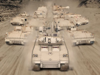 The M-1A2 Abrams tank, Various Bradley variants, GCV, M88 Hercules and M-109 Paladin SP Howitzers will form the future Heavy Brigade. Photo: BAE Systems