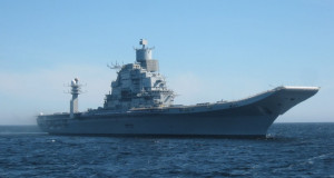 Vikramaditya sailing to the White Sea on its sea trials