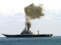 Smoke pillowed from the Vikramaditya as she sailed the Barnets Sea on its first sea trial. Despite the crew&#039;s efforts to reach top speed, the vessel didn&#039;t make it, due to faulty boiler insulation.