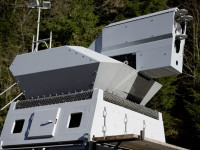 The 30kw Laser Weapon mounted on a Skyguard Revolver gun air defense turret. photo: Rheinmetall