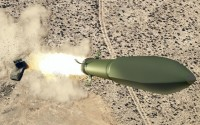 The conceptual Ground Launched Small Diameter Bomb (GL-SDB) will utilize the MLRS rocket to boost the SDB to a trajectory from where it will be able to continue gliding to its target like it was dropped from a manned aircraft. Photo: Boeing
