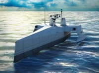 SAIC Concept for the ACTUV was selected by DARPA for the autonomous ASW demonstration program. Artist concept: SAIC