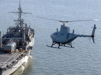 The Northrop Grumman MQ-8 Fire Scout unmanned autonomous helicopter
