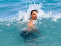 &quot;A nice way to celebrate the New Year for the President was to jump in the ocean in his native state of Hawaii. He was on his annual Christmas vacation with family and friends, and went swimming at Pyramid Rock Beach in Kaneohe Bay.&quot; Official White House photo