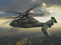 This artist&#039;s rendering depicts a Sikorsky-Boeing JMR-FVL concept aircraft with counter-rotating co-axial main rotors and a pusher propeller based on Sikorsky&#039;s X2 Technology rotorcraft design. The future rotorcraft will deliver significant improvements in speed, combat radius and hover performance for the Army&#039;s next-generation utility and attack helicopter fleets. Photo: Boeing