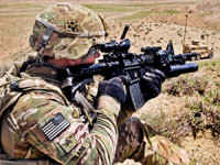 Since 2010 the Army has issued Multicam patterned combat fatigue and combat gear claimed to be supperior in their camouflage performance, compared to the standard UCP issued by the Army. Photo: US Army.