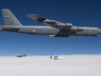 USAF B-52H drops a GBU-57A-B MOP demonstrator on a flight test. Photo: USAF